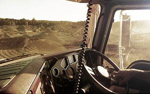 Steering wheel in use
