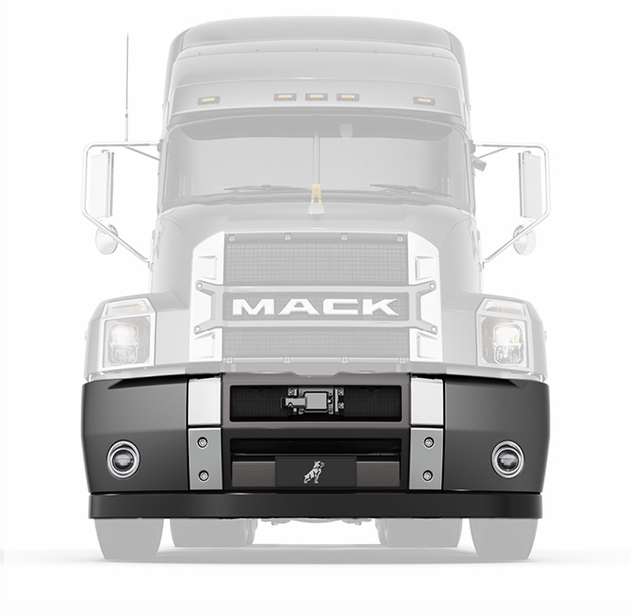 The Mack Anthem 3 piece bumper
